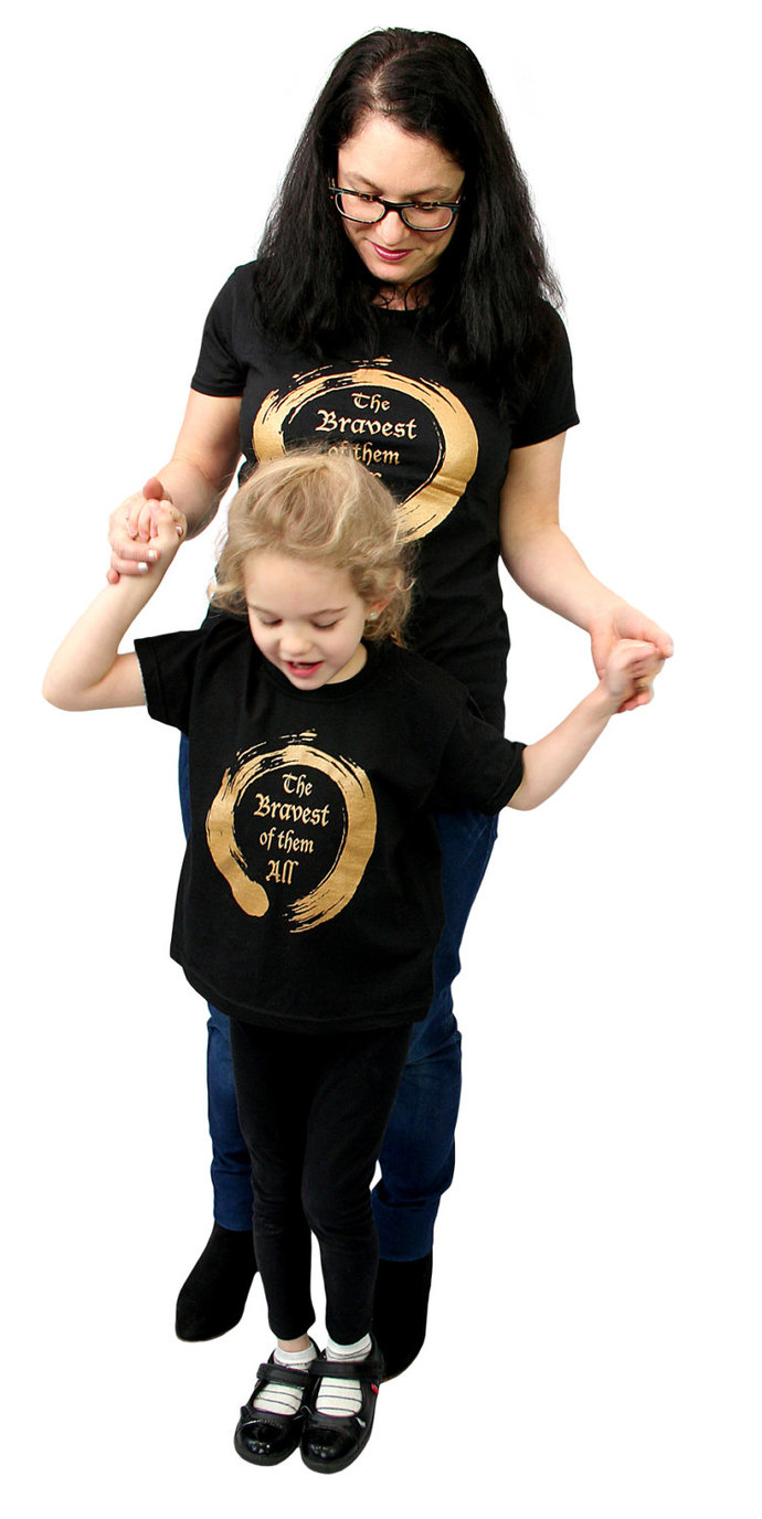 Empowering Kids T-Shirt The bravest of them all in blue, green, purple, pink,