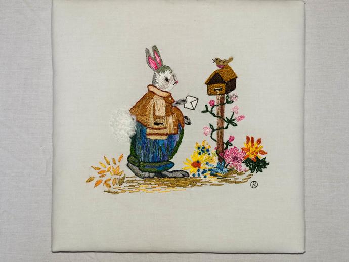 Embroidered Rabbit : Posting Letter