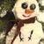 Snowman ornament, wool Christmas tree decoration, felted wool ornament, Folk Art