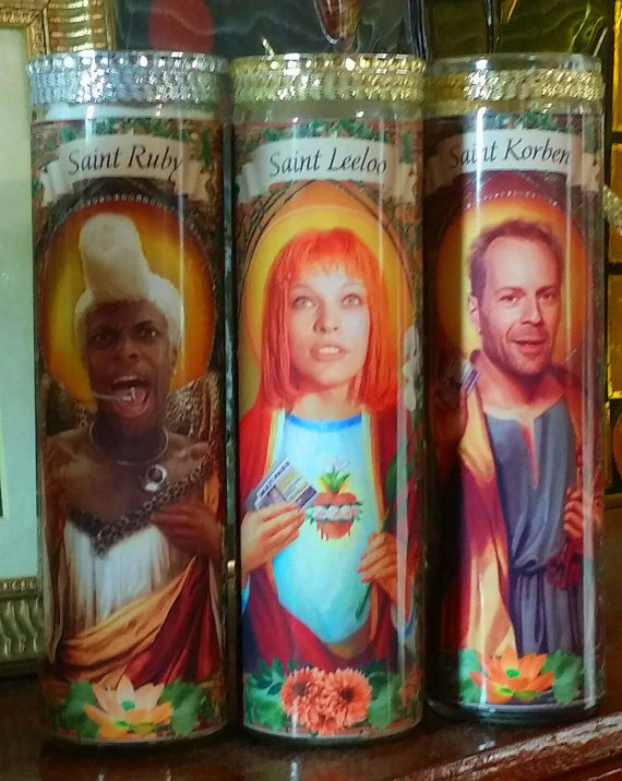 Absolutely Fabulous Patsy and Eddy Celebrity Saint Candles -Jennifer Sanders