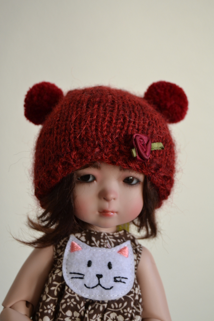 Little Teddy hat for YOSD ball jointed dolls