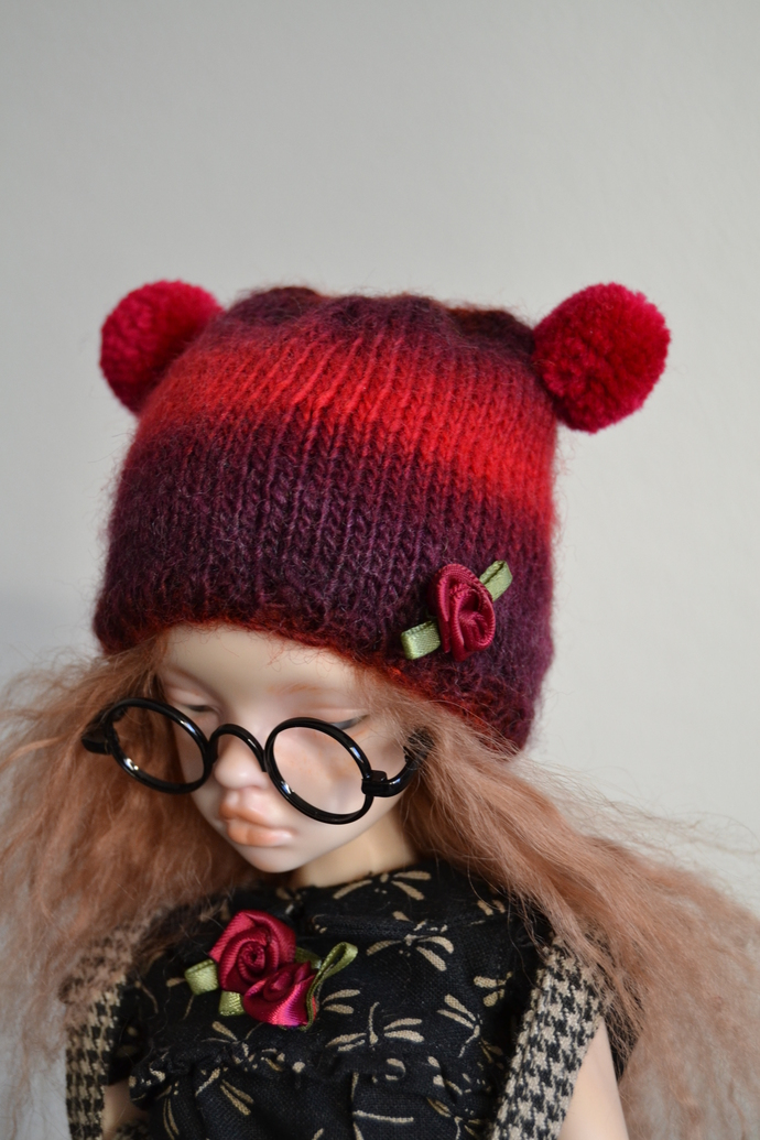 Big Teddy hat for msd ball jointed dolls