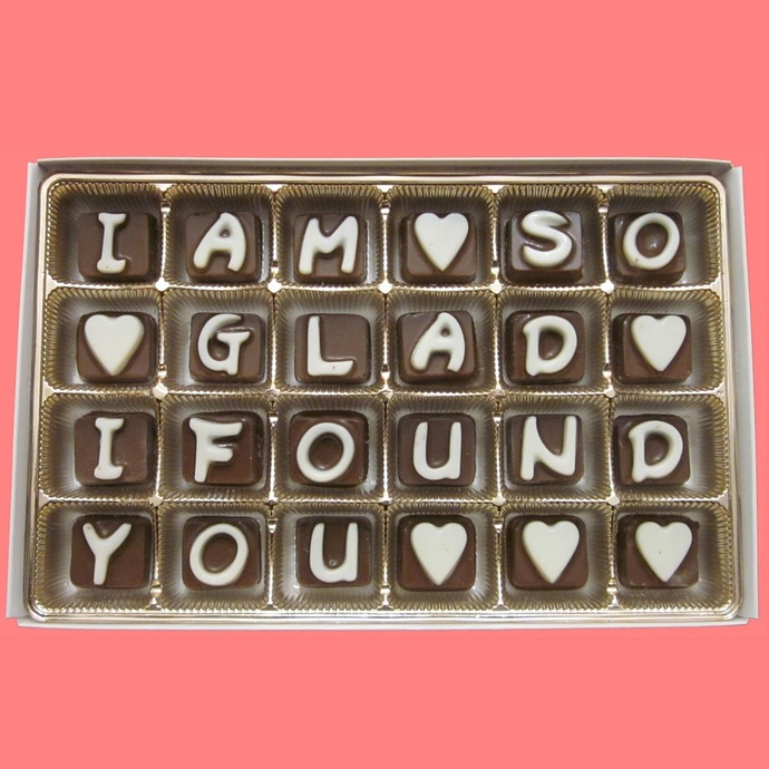 I Am So Glad I Found You Chocolate Message Gift Month Anniversary Gift
