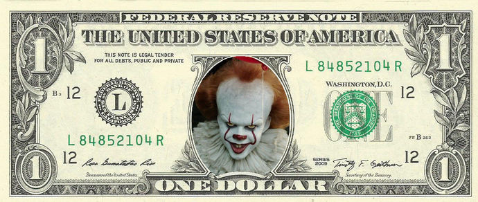 IT - Everybody Floats Real Dollar Bill Cash Money Collectible Memorabilia