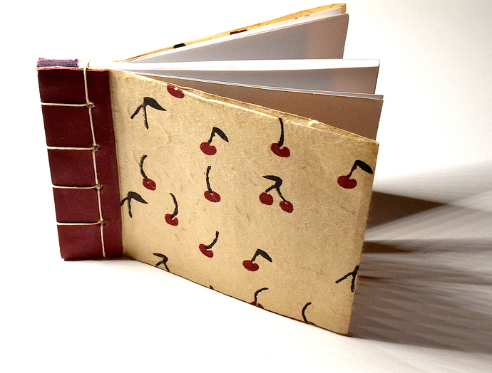 Cherry Red Japanese Stab Bound Book