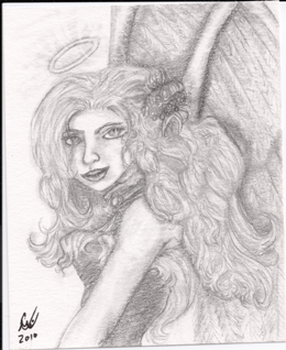 Angel Nigh, original, small sketch,