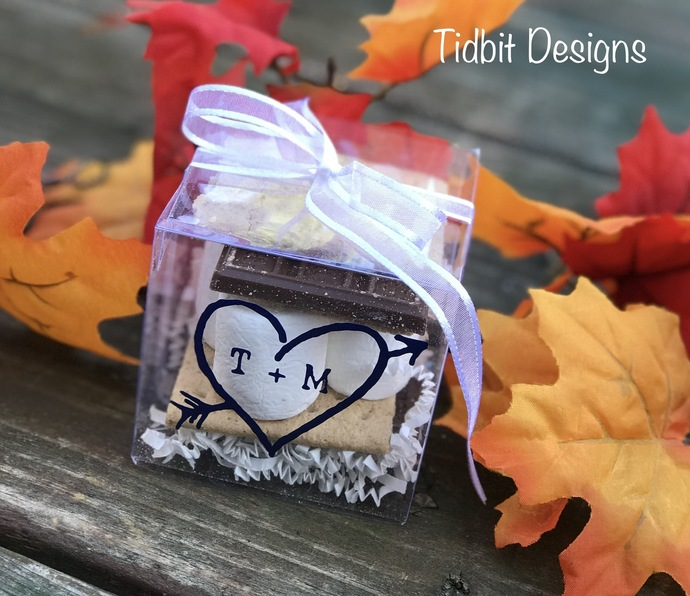 Personalized Smores / Treat Wedding Favor Boxes