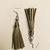 Green sheen Leather Tassel Earrings
