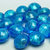 Lot of 20 Murano glass beads Aquamarine color and White Gold