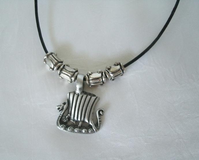 Viking Ship Necklace