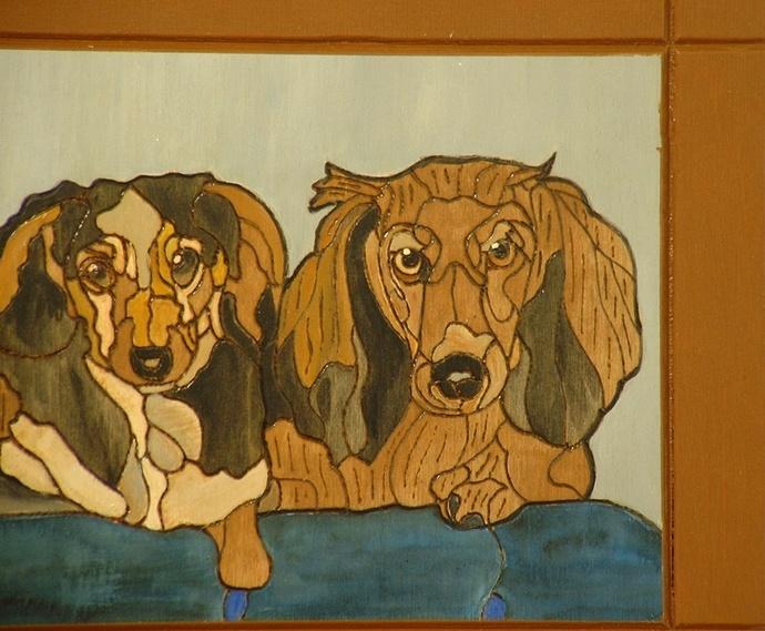 Dachshund, Pyrography, Wood Wall Art, Pet Memorial