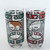 1997 Coca Cola Chinese Zodiac Year Of The Ox Drinking Glass Tumbler Set Of 2 -