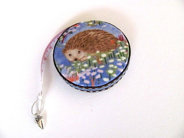 Tape Measure Hedgehogs in Flower Field Retractable Measuring Tape