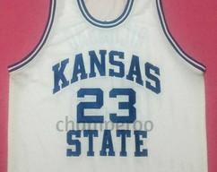 c01601854dd MITCH RICHMOND Kansas State Wildcats White College Jersey Many Size Unisex