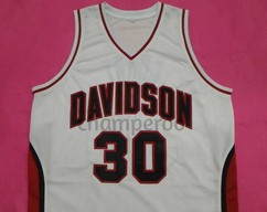 a8ea6c73d23 STEPHEN CURRY Davidson Wildcats White College Jersey Many Size Unisex