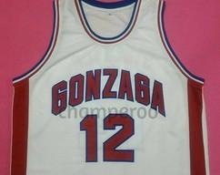 20a816581c3 JOHN STOCKTON Gonzaga Bulldogs White College Jersey Many Size Unisex