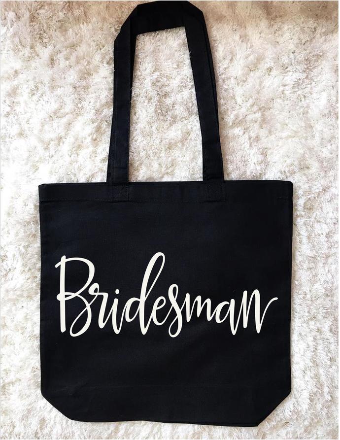 Bridesman Custom Tote Bag, Bridal Party Gifts, Bachelorette Party Bags, Unique