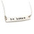Silver Bar Necklace - Sterling Silver Bar Necklace  - Be Brave Necklace -