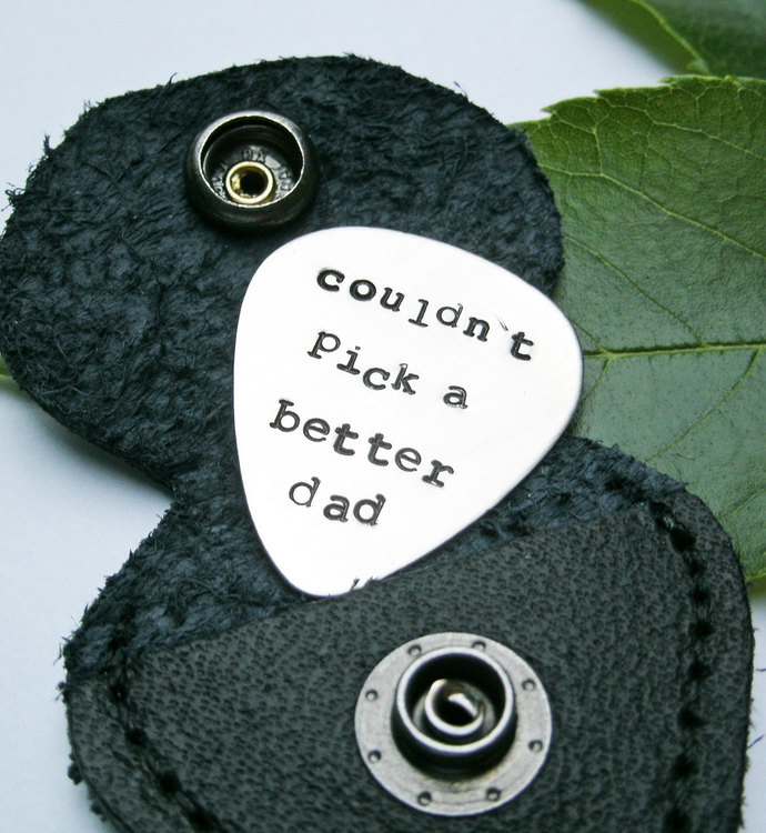 Custom guitar pick, Father's Day gift, Christmas Gift for Dad, personalized