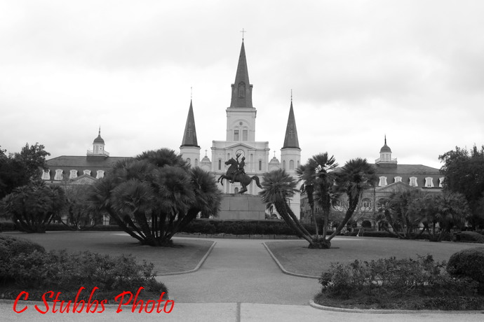 St Louis Cathedral & Andrew Jackson