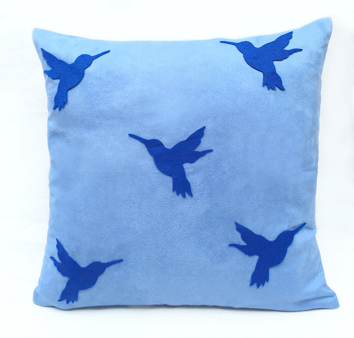 Custom Your Color Navy Humming Birds Soft By SmilingCloud On Zibbet Delectable Light Blue Throw Pillow Covers