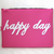 Happy Day Hand Cut Text Fuchsia Padded Zipper Pouch A4 Pouch. Typography Hot