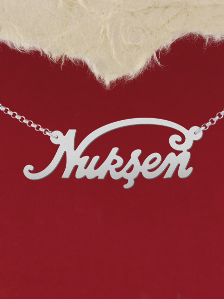 925 Silver Name Necklace Nursen/Custom Name Jewelry/Personalized ANY NAME Plate