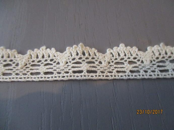 1yd Cotton Crochet Lace Trim