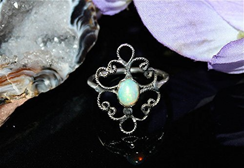 Sterling Silver Dichroic Filigree Ring