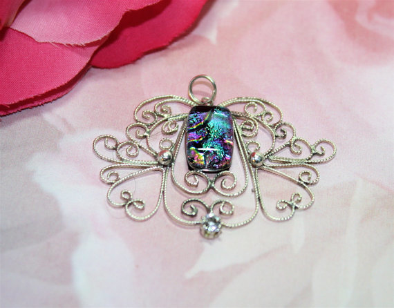 Dichroic Sterling Silver Pendant