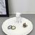 White Bulldog White Ceramic Ring Dish Jewelry Dish Key Tray. Dog Lovers Gift.