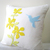 Color Choice. Pretty Florals Humming Bird Mint And White Decorative Pillow