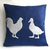 Custom Your Color. Cottage Chic Chicken And Duck Beige And Tan Decorative Pillow