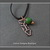 Hand Fabricated Copper Arrow and Green Turquoise Charm Necklace On Leather