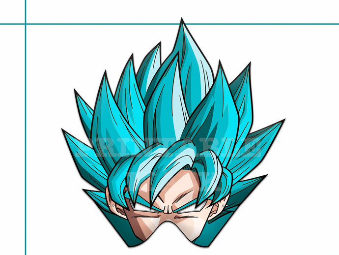 image about Dragon Ball Z Printable referred to as Distinctive 1 Dragon Ball Z Printable Mask, Eastern anime, Saiyan Goku mask, image props, Piccolo, Trunks, Frieza, dragon ball bash, birthday