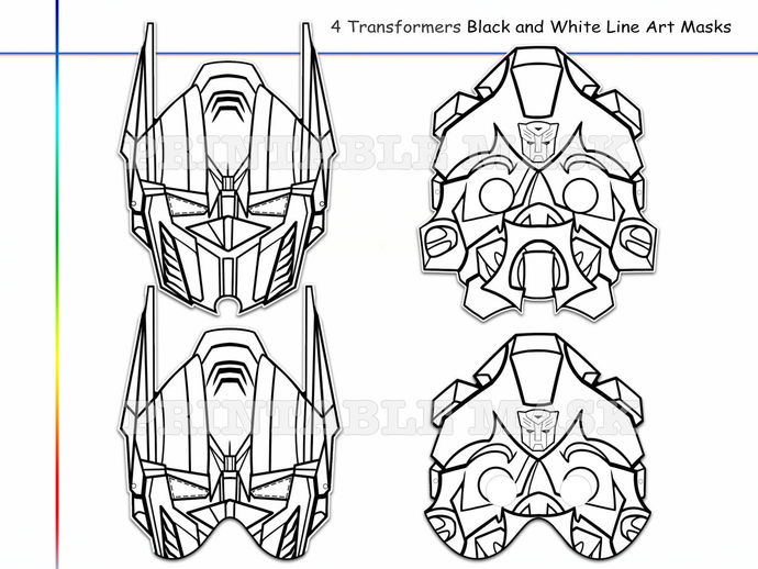Coloring Pages 4 Transformers Party