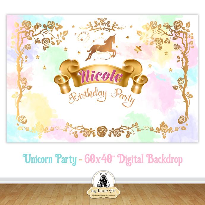 photograph about Printable Backdrop referred to as Unicorn Backdrop - Unicorn Printable Backdrop - Unicorn Decorations - Adorable Desk Decoration - Unicorn Birthday - Magical Unicorn - Unicorn
