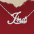925 Silver Name Necklace Ina/Custom Name Jewelry/Personalized ANY NAME Plate
