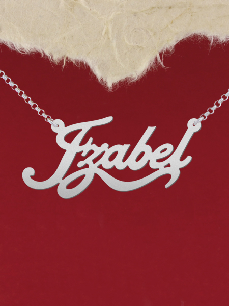 925 Silver Name Necklace Izabel/Custom Name Jewelry/Personalized ANY NAME Plate