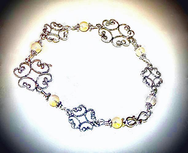 Beautiful Opal Dreams Sterling Silver Bracelet