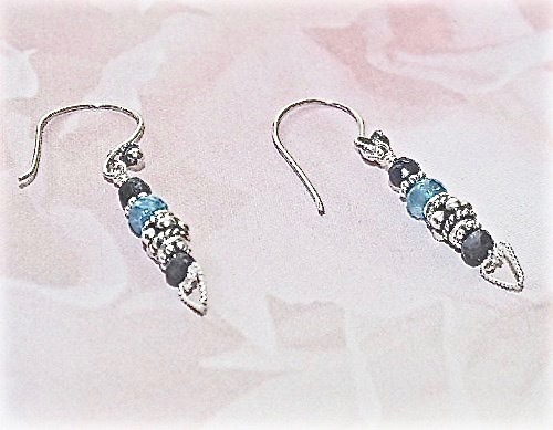 Deep Sapphire Sterling Earrings