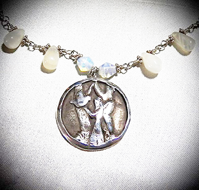 Fine Silver Goddess of the Forest Pendant