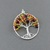 Fall Tree of Life Pendant - Sterling Silver Wire Wrapped Pendant - Autumn