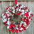 "RAG WREATH-Scraggle Wreath--Handmade--16""--ON SALE-- Wreath--Christmas"