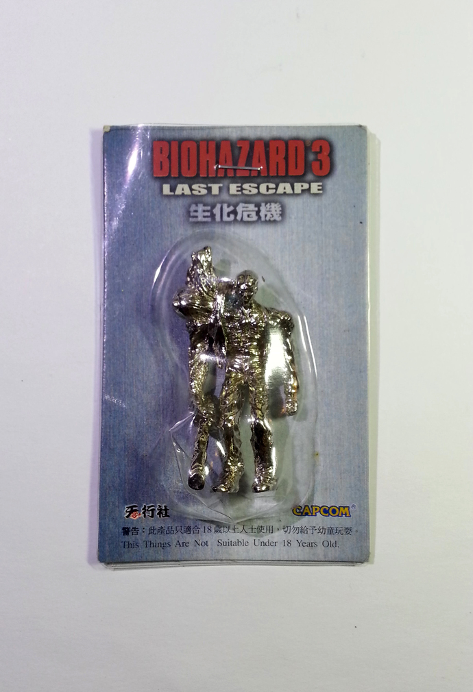 Rare Hong Kong Capcom Comic BIOHAZARD 3 Last Escape Birkin Type 1 Silver Metal