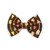 Large Cotton Bow Clip//Clip on Bow Tie - Tribal Arrows on Brown