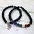 Gemstone Chakra Om Stretch Bracelet Set