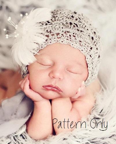 Newborn Crochet Pattern, Baby Crochet Pattern, Newborn Baby Bonnet Pattern,