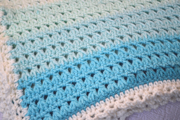 Baby Blanket Crochet Pattern Pdf Pattern By Kathyneilsen On Zibbet