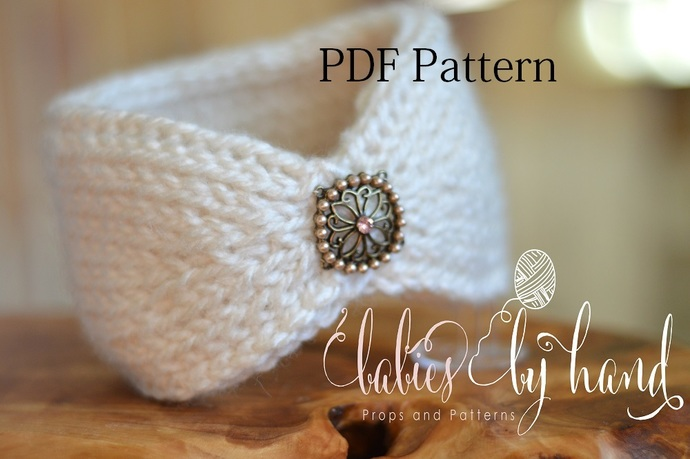 Tunisian Crochet Headband Pattern Baby Crochet Headband Pattern Ear Warmer Pdf Pattern Tunisian Crochet Pattern Baby Headband Pattern